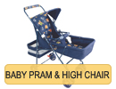 Baby Pram & High Chair